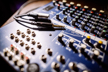Mixer desk detail