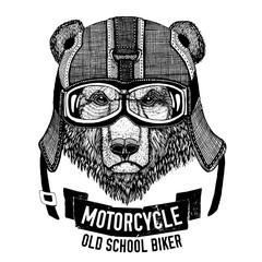 Wild BEAR for motorcycle, biker t-shirt
