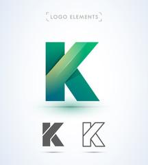 Origami letter K logo