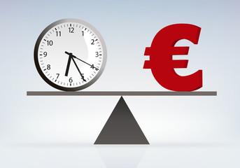 Temps - Argent - Travail - Capitalisme - Euro