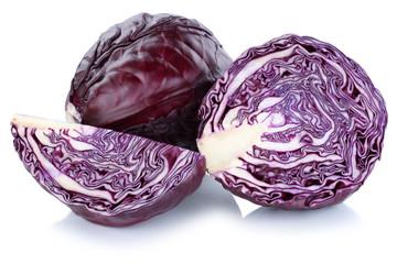 Blaukraut Rotkohl Kraut geschnitten Gemüse Freisteller freigest