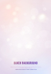 Poster template with bokeh lights background.