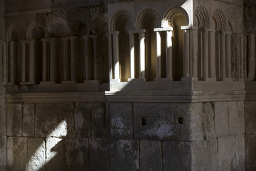 The ruins of the ancient citadel in Amman, Jordan