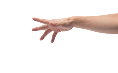 asian male hand reaching out