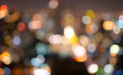 A blurred bokeh of Bangkok city scene
