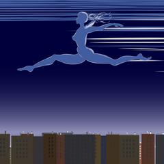 Night Flight vector illustration