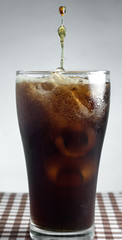 Ice Cola on table.