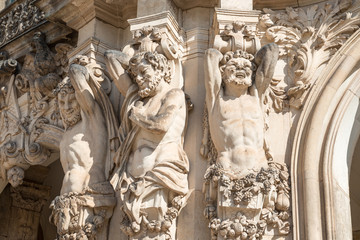 Statues of the Zwinger in Dresden, Gemany