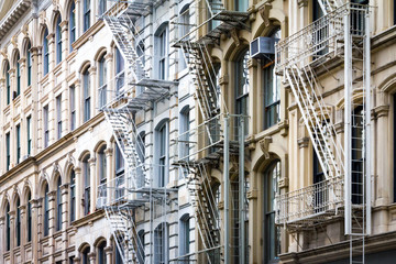 Fototapete - Historic buildings background in SoHo New York City