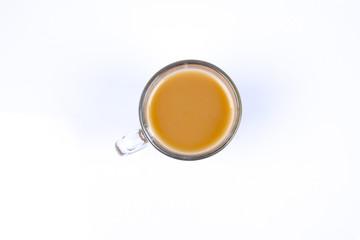 Milk tea isolated on white.