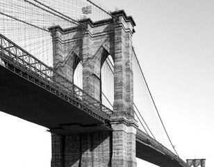 Brooklyn Bridge in Black and White New York City NYC