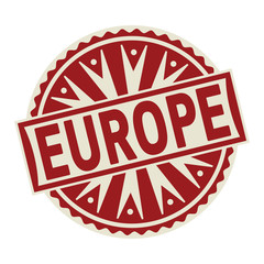 Stamp, label or tag business concept with text Europe
