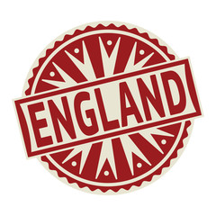 Stamp, label or tag business concept with text England