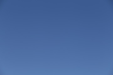 Clear cloudless blue sky horizontal natural gradient