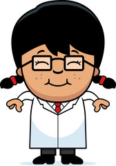 Smiling Cartoon Little Scientist