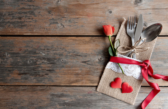 Valentines day meal background