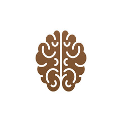 Brain icon vector, solid logo illustration, colorful pictogram isolated on white