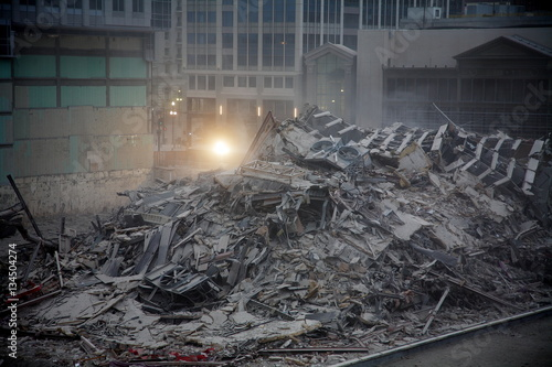 Building Demolition With Explosives : Quot building demolition with explosives in downtown city