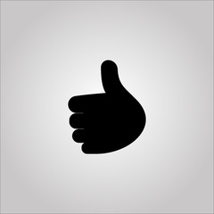 Thumb icon on the grey background