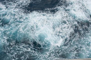Blue seafoam