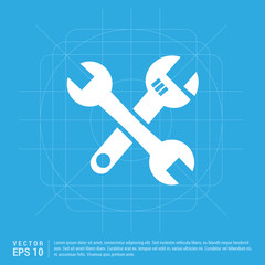 Crossed wrench tools icon