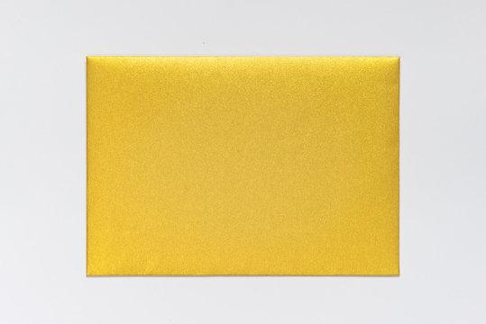 Gold Invitation Envelope, isolated
