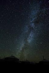Die Milchstraße über dem Altai-Gebirge - Mongolei