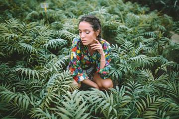 Girl at the garden