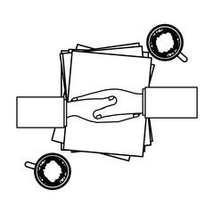 to deliver documents icon vector illustration graphic design