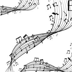 music notes pattern icon vector illustration design
