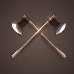 Crossed axes illustration