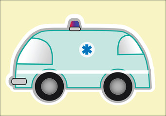 comic vector image ambulances for children's illustration