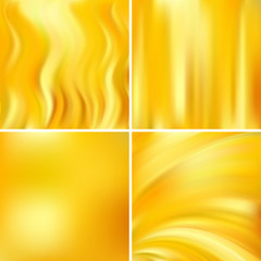 Abstract blurred vector backgrounds. For art illustration template design, business infographic and social media. Yellow, orange colors.