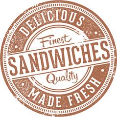 Deli Sandwiches Vintage Stamp