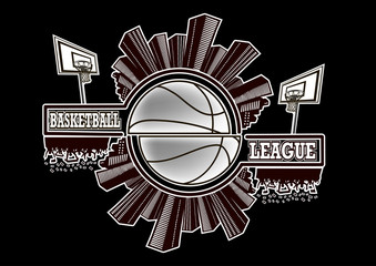 Logo basketball league