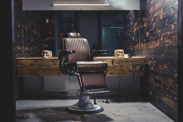 Stylish Vintage Barber Chair  Fototapete