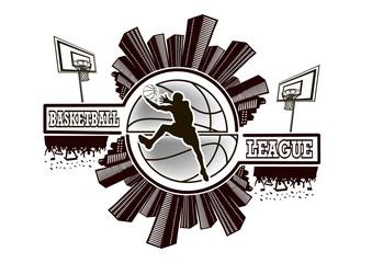 Logo basketball league