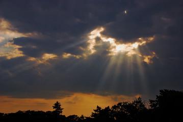 Sun breaking through the clouds