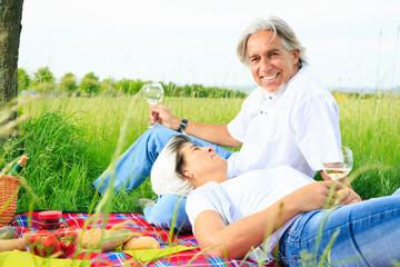 Senior Couple Having A Picnic