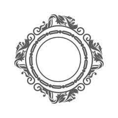 elegant frame decorative icon vector illustration design