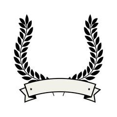 wreath crown emblem icon vector illustration design