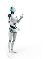 Cyborg man,isolated on white background