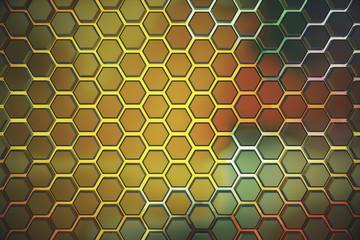 Color triangular background