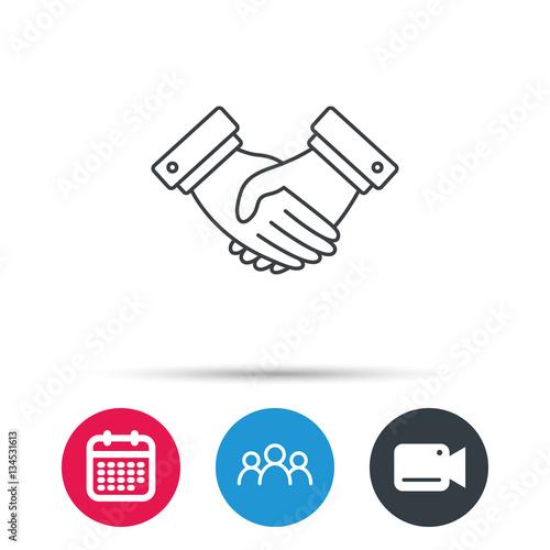 Handshake Icon Deal Agreement Sign Business Partnership Symbol