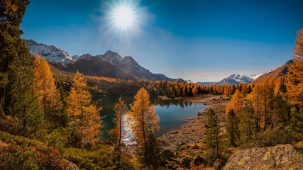 Autumn day, Swiss Alps, Switzerland, Europe