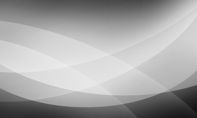 black and white background design with waves or wavy lines of transparent layers, classy black business background in abstract pattern