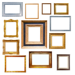 Set of   frames. Isolated on white