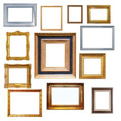 Set of   frames. Isolated on white