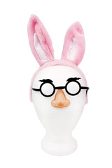 Silly goofy Easter bunny ears with comic glasses and nose.