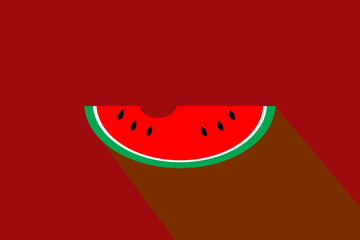 water melon flat icon,illustration